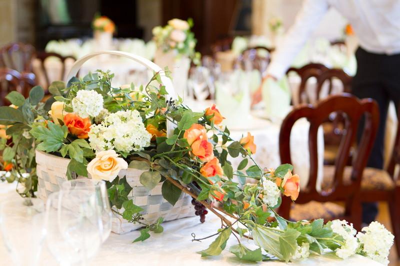 テーブル 花